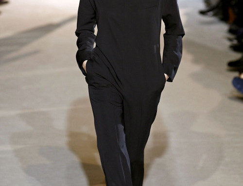 This Stella McCartney jumpsuit looks like a Snuggy for work….